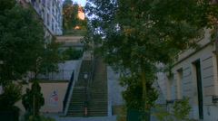 Stairs of rue Mont Cenis, Paris Stock Footage