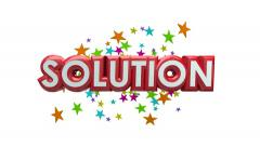 Problem Solution Spinning Words Issue Solved Innovative Idea Plan Alpha Matte Stock Footage