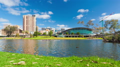 4k motorized dolly timelapse video of Adelaide city, zooming in Stock Footage