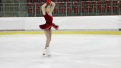 Little ice skater Stock Footage