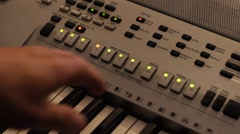 Stock Video Footage of Setting synth