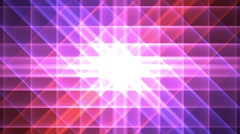 Prismatic grid star abstract background loop pink purple Stock Footage