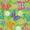 Stock Illustration of Seamless, flowers and butterflies