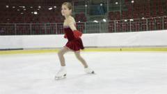 little ice skater - stock footage