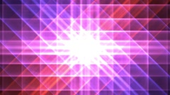 Prismatic grid star abstract background loop pink purple shimmer Stock Footage