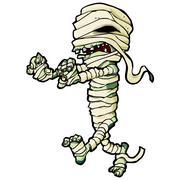 cartoon egyptian mummy - stock illustration
