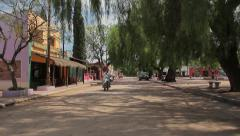 San Marcos Sierras, colorfu houses in the South American western, dirt streets - stock footage
