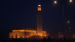 Mosque at night 2 Stock Footage