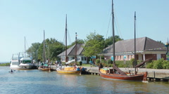 Harbour of Wustrow, Mecklenburg Western Pomerania Stock Footage