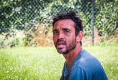 A man in atlanta, georgia. Stock Photos