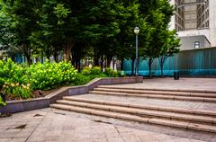 Fountains and garden at woodruff park in downtown atlanta, georgia. Stock Photos