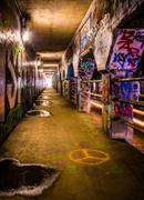 Graffiti inside krog street tunnel in atlanta, georgia. Stock Photos
