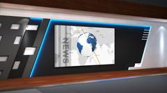 Sports news TV studio  102a Stock Footage