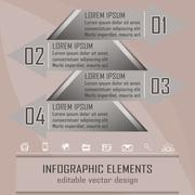 Infographic option banner Stock Illustration