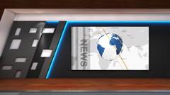Sports news TV studio 102b Stock Footage