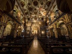 Sao Francisco Church and Convent Interior, Salvador da Bahia, Brazil Stock Photos