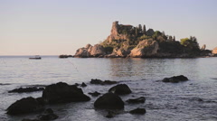 Isola Bella Beach, Taormina, Sicily, Italy, Europe Stock Footage