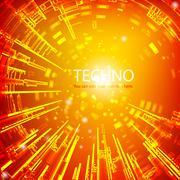 Techno burst Stock Illustration
