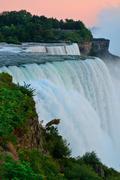 Niagara falls closeup at dusk Stock Photos
