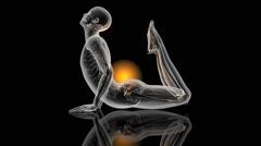 Flowing Yoga Energy Stock Footage