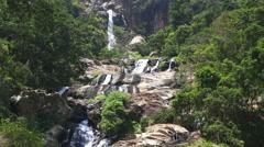 View of Ravana Falls in Ella, Sri Lanka. Stock Footage