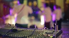 Audio mixer on concert Stock Footage