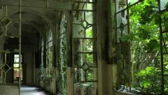 Abandoned psychiatric hospital Stock Footage