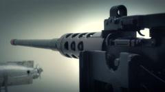 Machine gun Stock Footage