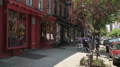 Brooklyn Storefronts. Boerum Hill Storefronts. - stock footage