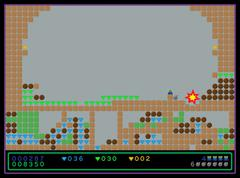Screenshot of the old style computer game Stock Illustration