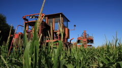 Special Tracktor in farm, Corn, Buenos Aires Stock Footage