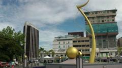 South Eeast Asia Borneo Island sultanate Brunei Bandar Seri Begawan promanade Stock Footage