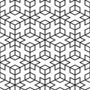 Abstract pattern - seamless geometric mesh Stock Illustration