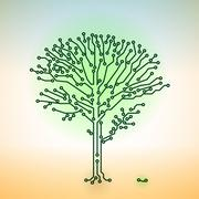 circuit board electronic tree - digital technology concept - stock illustration