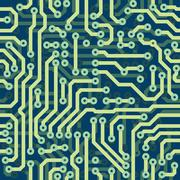 Stock Illustration of high tech schematic seamless texture - electronic circuit board