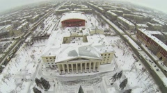 City panorama with Palace of Culture Victor Litvinov Stock Footage