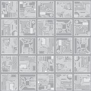 Seamless electronic pattern. computer circuit board technology background Stock Illustration