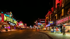 Clifton Hill at Night, Niagara Falls, Ontario, Canada Stock Footage