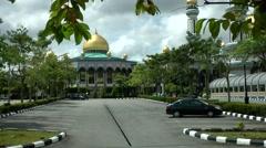 South Eeast Asia Borneo Island Brunei Bandar Jame'Asr Hassanil Bolkiah Mosque Stock Footage