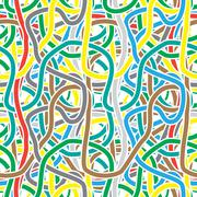 Seamless pattern - continuous color stripes like a festive streamers Stock Illustration