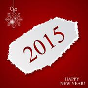 Stock Illustration of Happy New Year and Marry Christmas Background