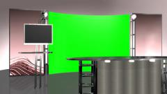 virtual studio background - green / blue screen effect - stock footage