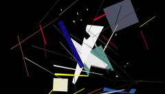 Kandinsky Shapes Animated 03 - Alpha Included Stock Footage