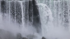 Niagara Falls - The American Falls as Seen from the Canadian Side Stock Footage