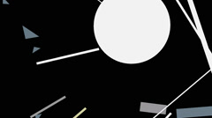 Kandinsky Shapes Animated 04 - Alpha Included Stock Footage