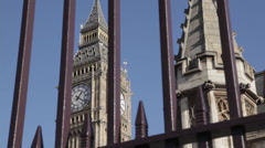 Houses of Parliament and Big Ben Clocktower,  Westminster, London, England, UK Stock Footage