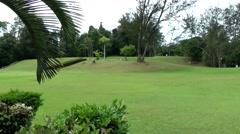 South Eeast Asia Brunei Bandar Seri Begawan lawn in Jerudong Park polo club Stock Footage
