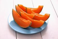 Stock Photo of cantaloupe melon as healthy refreshment