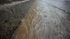Rain in Gutter Seamless Loop Stock Footage