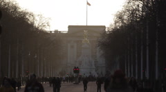 The Mall and Buckingham Palace, City of Westminster, London, England, UK Stock Footage